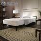 宜式家居休闲双人床1.5米成人钢木铁艺床时尚家用创意铁架床黑色
