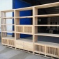 新中式书架 榆木博古架 实木中式隔断博古架  白坯博古架 多宝阁榆木古董架展示架