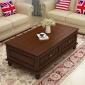 美式��木茶�纂��柜�M合小�粜涂�d家具定制橡木咖啡桌�W式茶桌