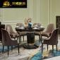 �W式��木餐桌椅�M合1.35米�A桌��s一桌六椅美式奢�A餐桌酒店家具