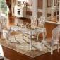 【�S家直�N】�W式餐桌椅大理石 雕花餐�d�L方形法式餐桌�M合