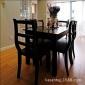 美式�l村��木餐桌椅�M合�W式��s方桌椅�桌美式家具水曲柳餐桌