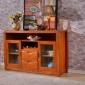 零售批�l �F代中式��木碗柜 橡木餐�d�ξ锿牍� 茶水碗柜 �N房碗柜