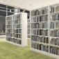 成都厂家直销学校钢制书架 图书馆双面书架 阅览室资料档案架书店